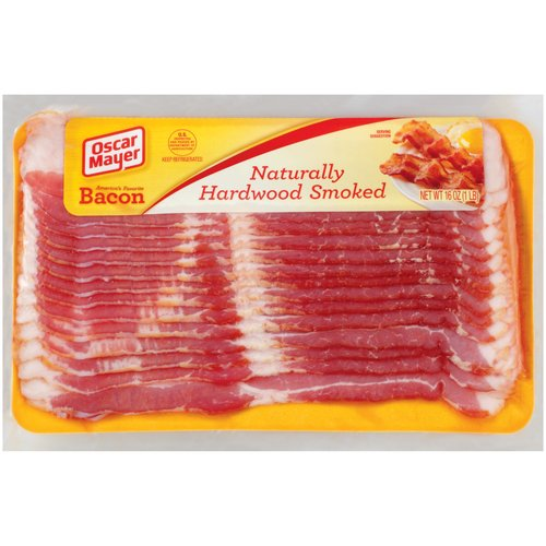 Oscar Mayer Naturally Hardwood Smoked Bacon, 16 oz