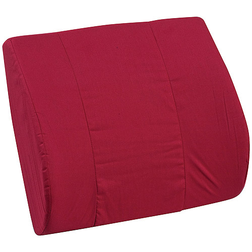 "DMI Memory Foam Lumbar Cushion, Burgundy, 14"" x 13"""