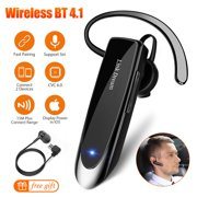 EEEKit Bluetooth Headset 24Hrs Playtime Wireless Bluetooth V4.1 Earpiece CVC 6.0 Noise Canceling Headphone Car Trucker Business Earbud with Mic Compatible with iPhone Samsung Android (Black)