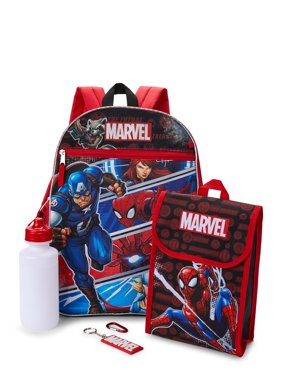 Marvel 5 Piece Backpack Set