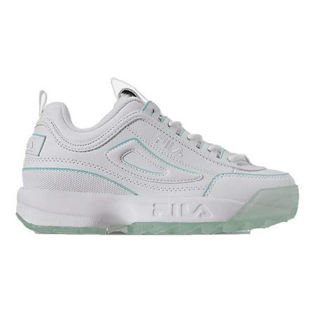 Fila Kids Disruptor II Ice Pack Sneakers (6.5, WhiteAruba Blue)