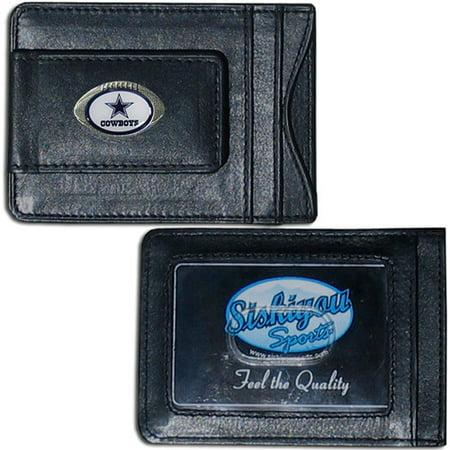 NFL - Money Clip and Cardholder,  Dallas Cowboys - Engraved Nfl Money Clip