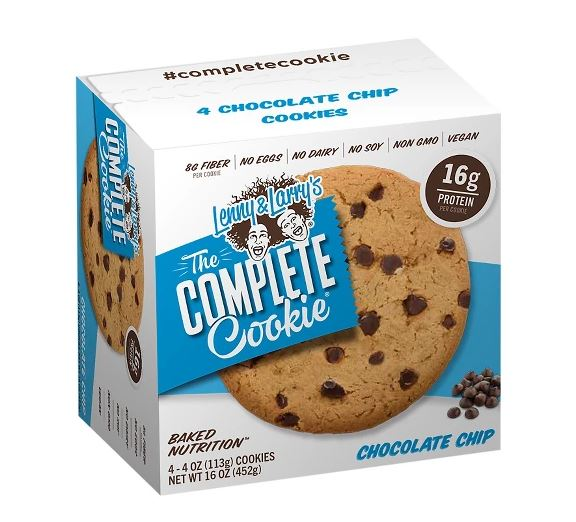 Lenny & Larry's The Complete Cookie, Chocolate Chip, 16g Protein, 4 Ct