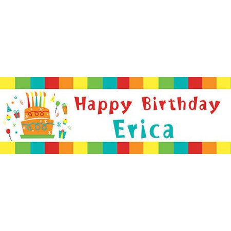 Multi-color Personalized Happy Birthday Banner for $<!---->