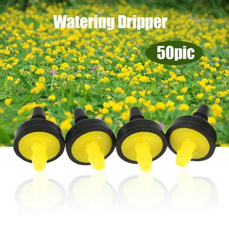 Yosoo 50Pcs Adjustable Flow Pressure Compensating Irrigation Sprinklers Watering Dripper Emitter, Irrigation Sprinkler, Watering -