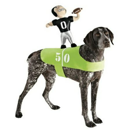 Football Player Halloween Costume Guys (Dog Football Player Costume Plush Pet Rider Superbowl)