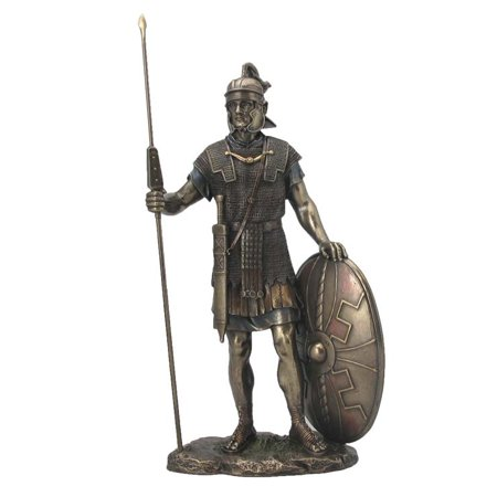 Roman Warrior With Spear And Shield  - Knights & Warriors Sculpture - Roman Spear