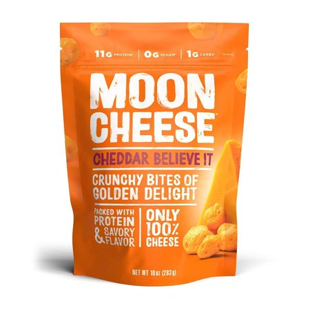 Moon Cheese - 100% Natural Cheese Snack - Cheddar - 10 oz