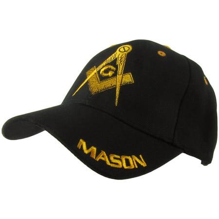 G MASON Masonic Ball Cap Adjustable Freemason Golf/Baseball Hat Freemasonry Gift - Putting On A Bald Cap