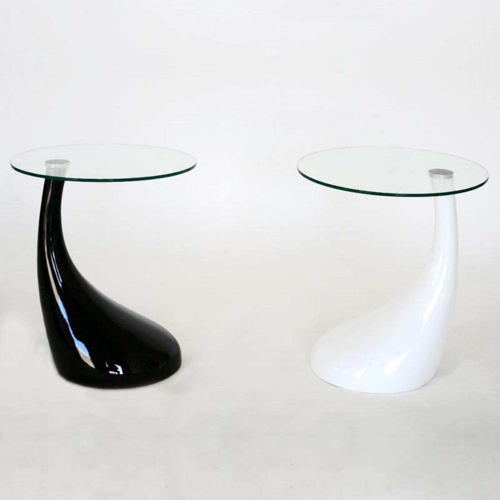 Baxton Studio Contemporary Curved-Base Coffee Table