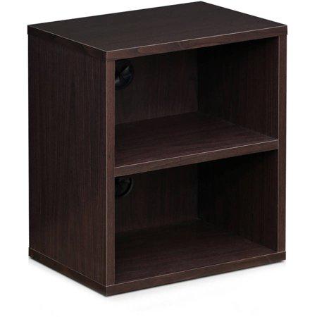Furinno Indo Tier Petite Audio Video Display Shelf, Espresso