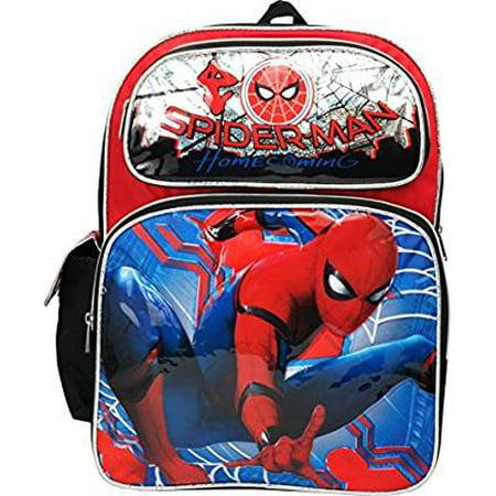 Backpack - - Spiderman Homecoming Movie - Silver 16 School Bag 694678 (Spider Man Bag)