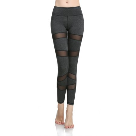 371f4ce16269c Maks - Girls or Junior Women's Black with Spliced mesh inserts Compression  Tights Active Stretch Fitness Yoga pants Running and Jogging Leggings -  Walmart. ...