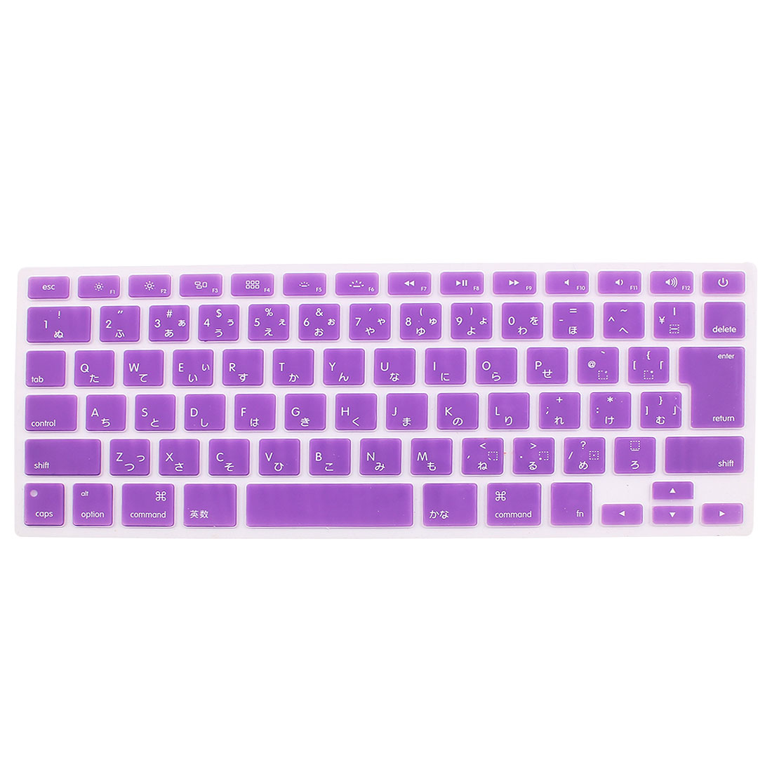 Japanese Silicone Keyboard Skin Cover Purple for Apple Macbook Air 13 15 17