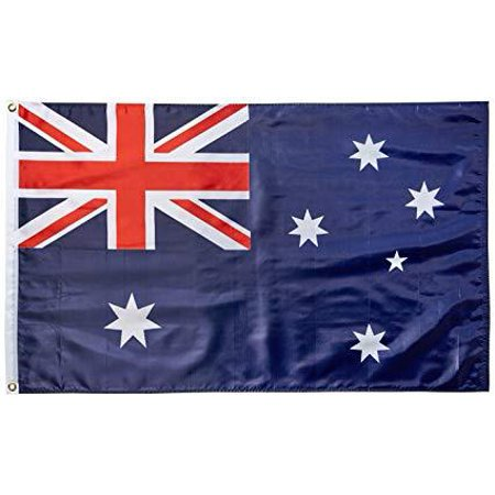 3x5 Foot Australia Flag Double Stitched Australian Flag with Brass Grommets | 3 by 5 Foot Premium Indoor Outdoor Polyester Banner ()