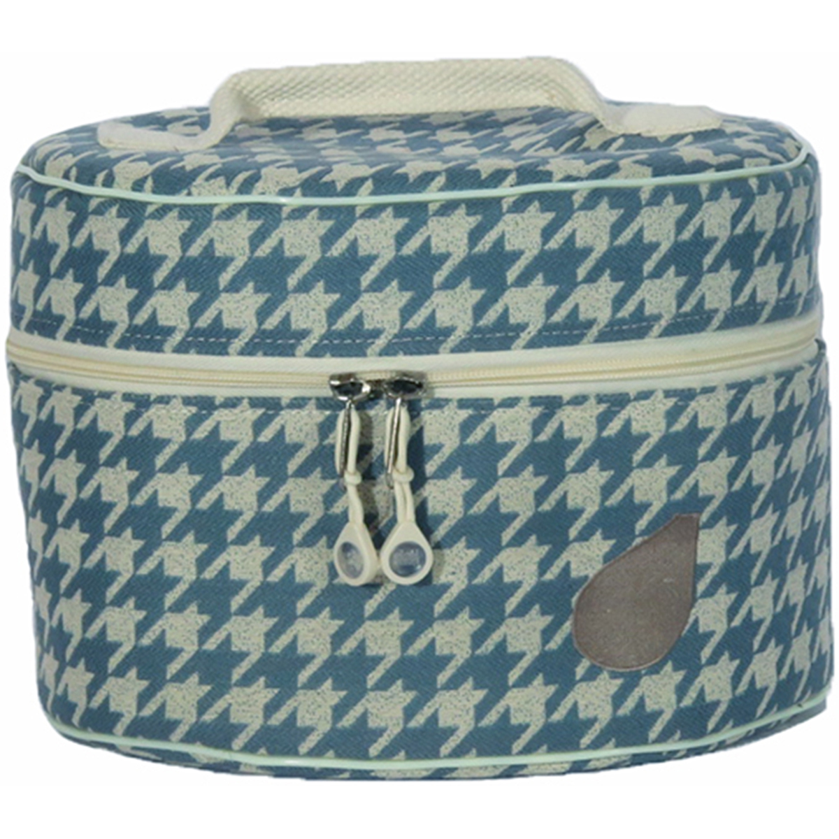 Bluefig Pearl District Mini-Carry Case-Sabrina - Blue Houndstooth