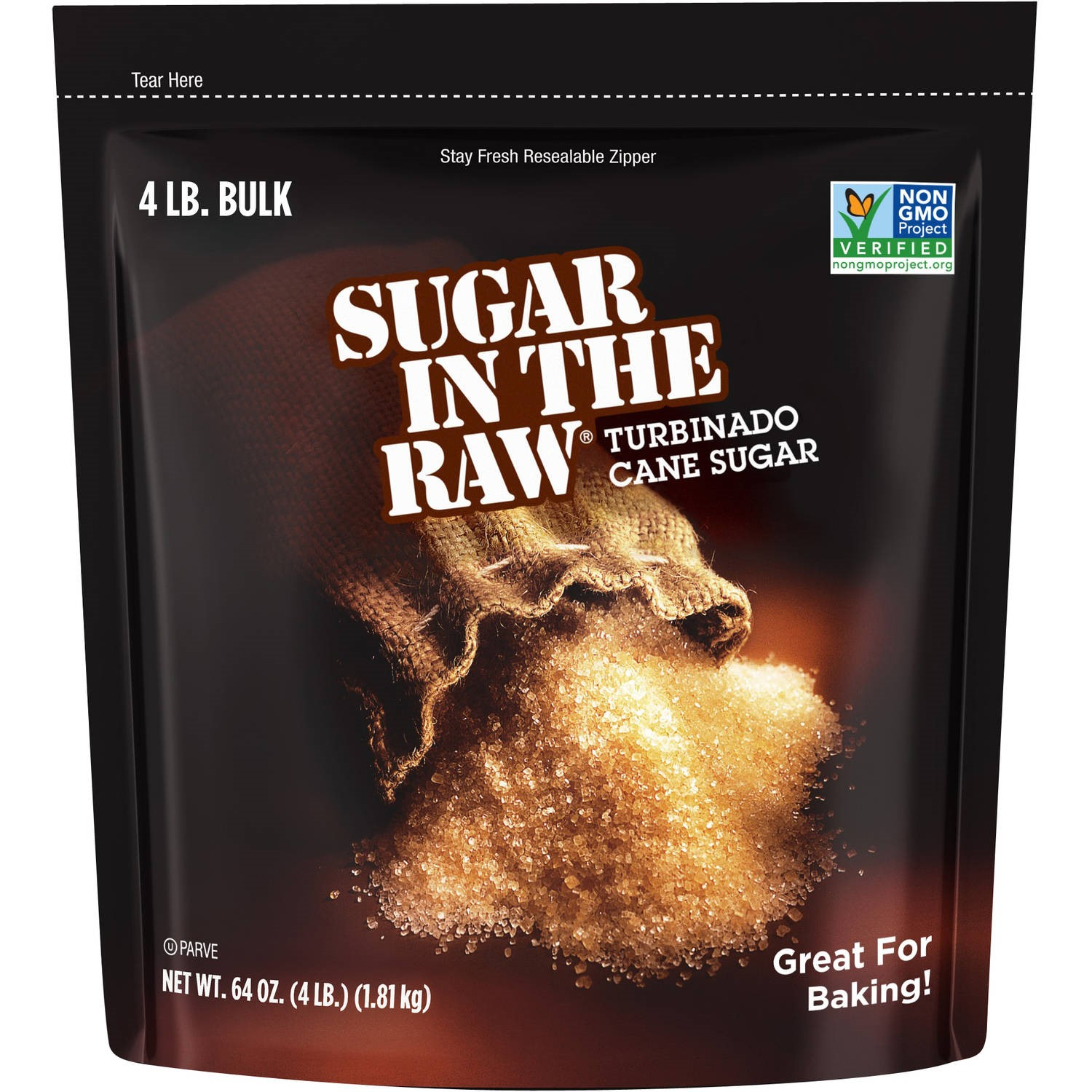 Sugar In The Raw Turbinado Cane Sugar, 64 Oz