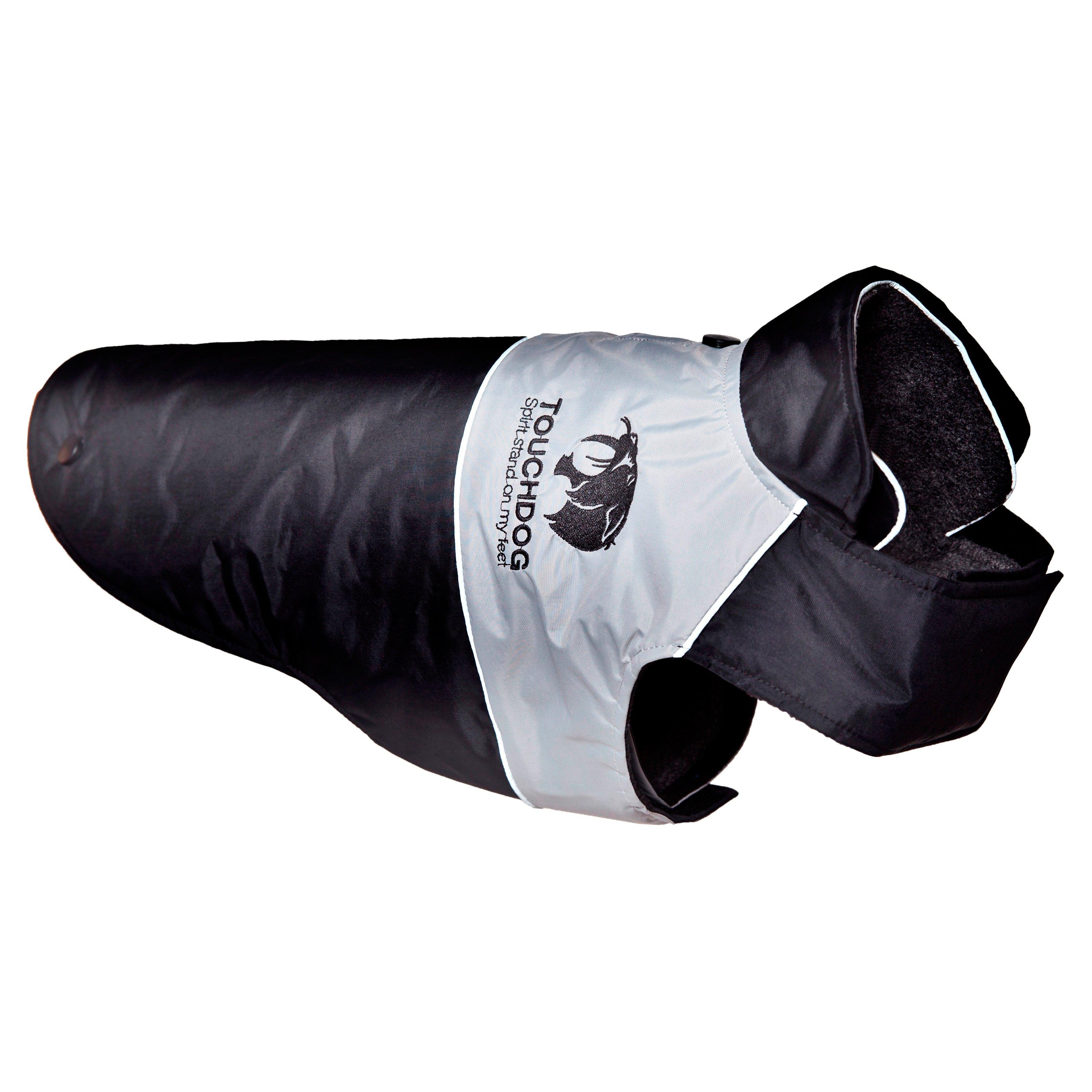 Pet Life Touchdog Lightening-Shield Waterproof 2-in-1 Convertible Dog Jacket with Blackshark Technology
