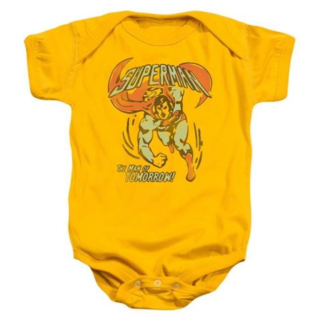 Trevco Dc-Tomorrow Man - Infant Snapsuit - Gold, Extra Large 24 Mos