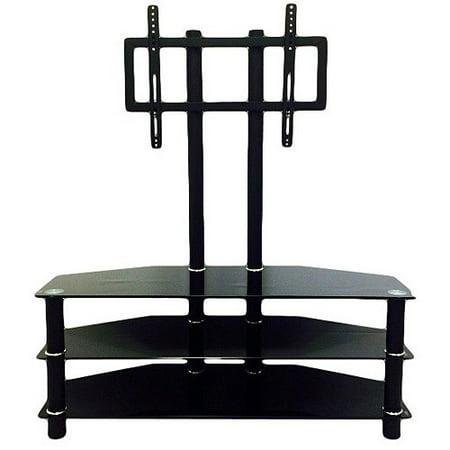 tv stand with mount walmart. hodedah black 3-shelf glass tv stand with mount for tvs up to 42\ tv walmart l