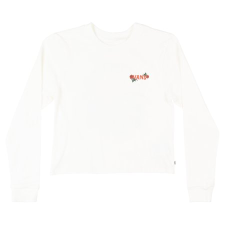VANS OFF THE WALL BORN TO ROAM LONG SLEEVE CROPPED SHIRT WOMENS SKATE TOP NWT - The Cream Of The Crop