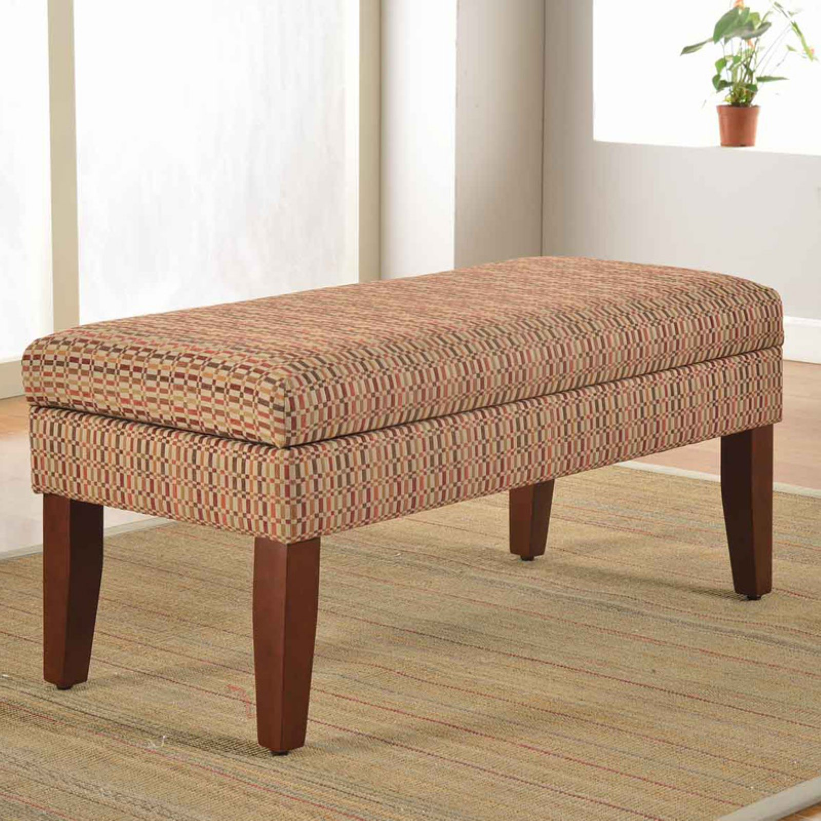 Kinfine USA Decorative Geometric Storage Bench