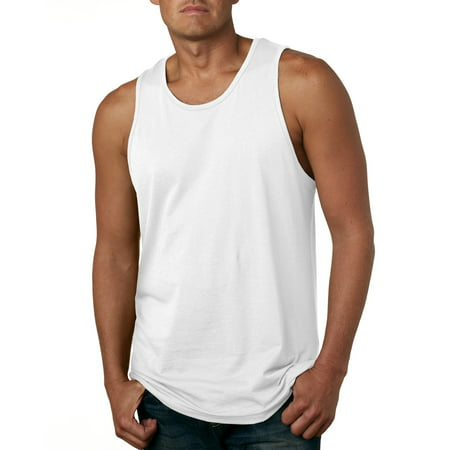 Branded Next Level Mens Cotton Tank Top - WHITE - M (Instant Saving 5% & more) (Five More Days Till Halloween)