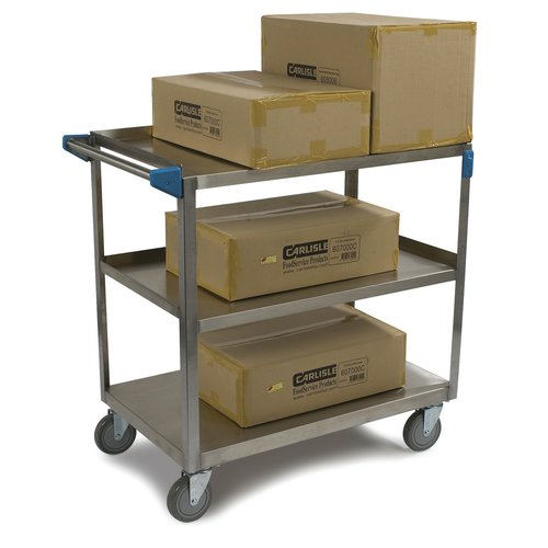 Carlisle Food Service Products 3 Shelf Utility Cart