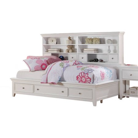 acme lacey twin daybed with storage white. Black Bedroom Furniture Sets. Home Design Ideas