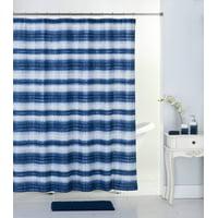 Mainstays 17pc Bathroom Set with Shower Curtain, 12 Hooks, Bath Rug, and 3pc Accessory Set