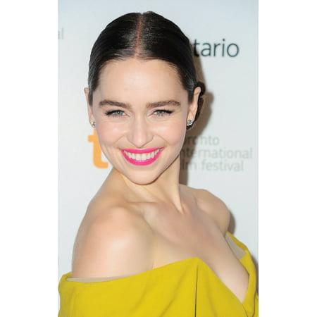 Emilia Clarke At Arrivals For Dom Hemingway Premiere At The Toronto International Film Festival Canvas Art     16 X 20