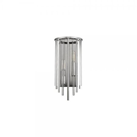 Hudson Valley Lewis 2 Light Wall Sconce, Polished Nickel - 2511-PN Hudson Valley Lighting Nickel Sconce