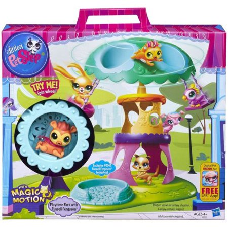 Littlest Pet Shop Playtime Park with Russell Ferguson Play Set