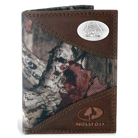 East Carolina Nylon and Leather Trifold Wallet (Mossy Oak) ()