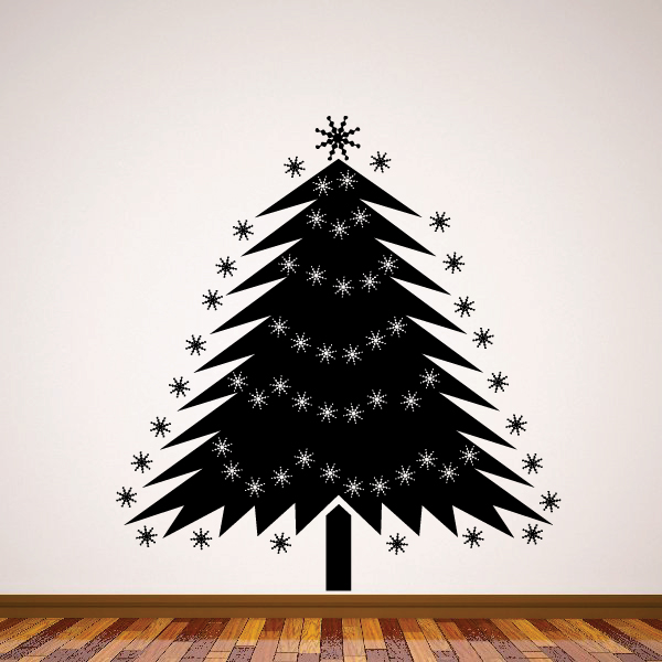 Sparkly Christmas Tree Decal 36 Inches Walmart Com