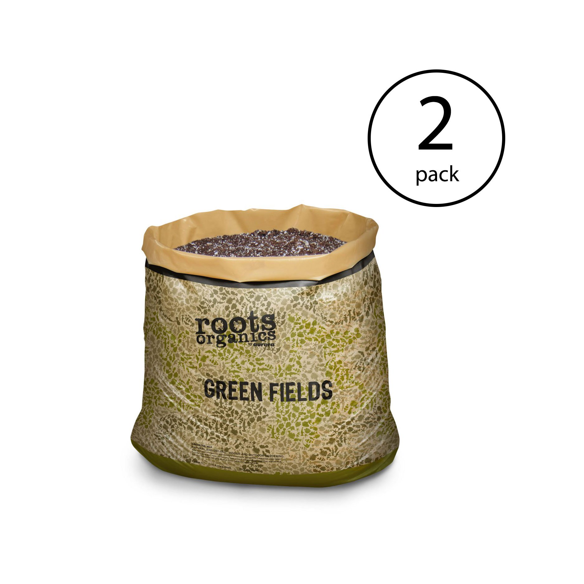 Roots Organics ROGF Hydroponics Green Fields Potting Soil, 1.5 cu ft (2 Pack)