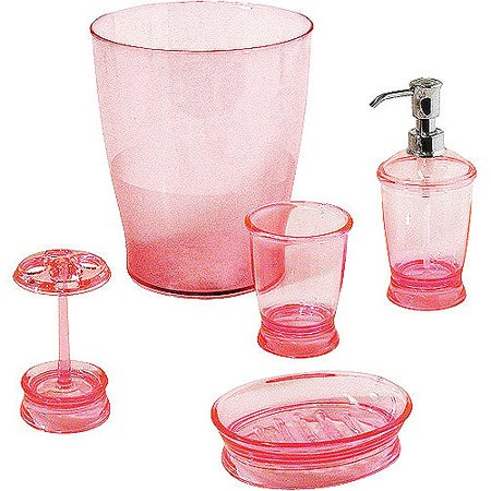 Mainstays 5 piece bath accessory set for C bhogilal bathroom accessories