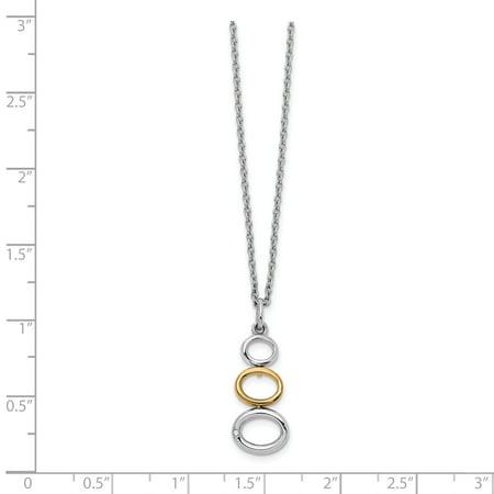 White Ice QW381-18 Collier de diamants en argent sterling 18 po, plaqu- or et 0,5 pinte - poli - image 2 de 3