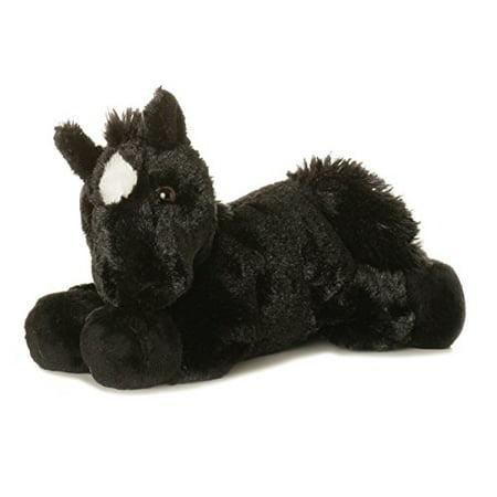 "Aurora Plush Beau Black Horse Mini Flopsie 8"""