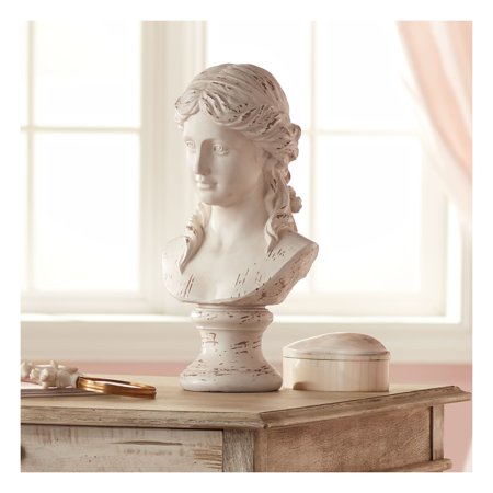 "Kensington Hill Classic Greek 17 1/2"" High Antique White Bust Sculpture"