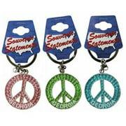 1266551 Georgia Keychain- Glitter Peace Symbol Case of 60
