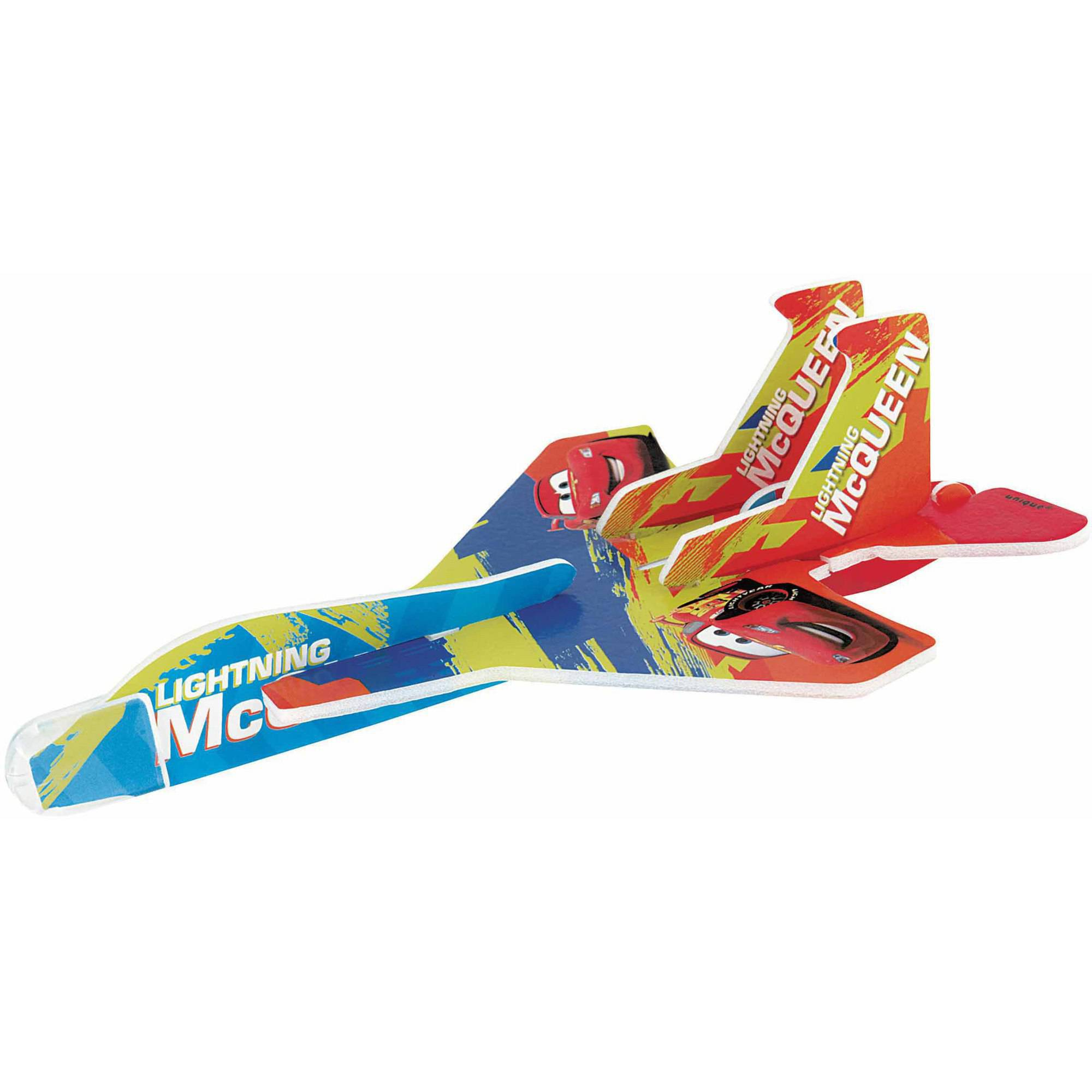 Disney Cars Glider Plane Party Favors, 4ct