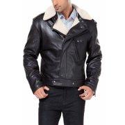 BGSD Men's Grant New Zealand Lambskin Leather Motorcycle Jacket