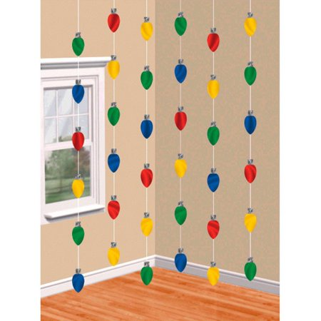 Christmas Lights Doorway Foil String Decoration 7' 6 (Difference Between 6 String And 7 String Guitar)