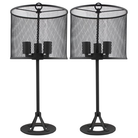 Urbanest Pullman Table Lamps, Charcoal Grey, Set of 2