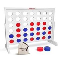 UBesGoo Wooden 4 in A Giant Row Connect Puzzle Game Board Expansion