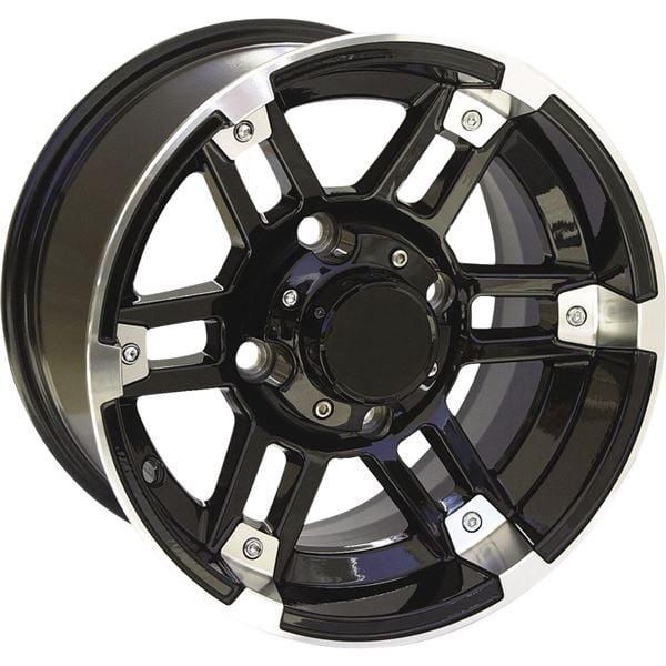 Black w/Machined 12x7, 4/156, 4+3 Ocelot One Zero Four Wheel - 12X7 4/156 4+3