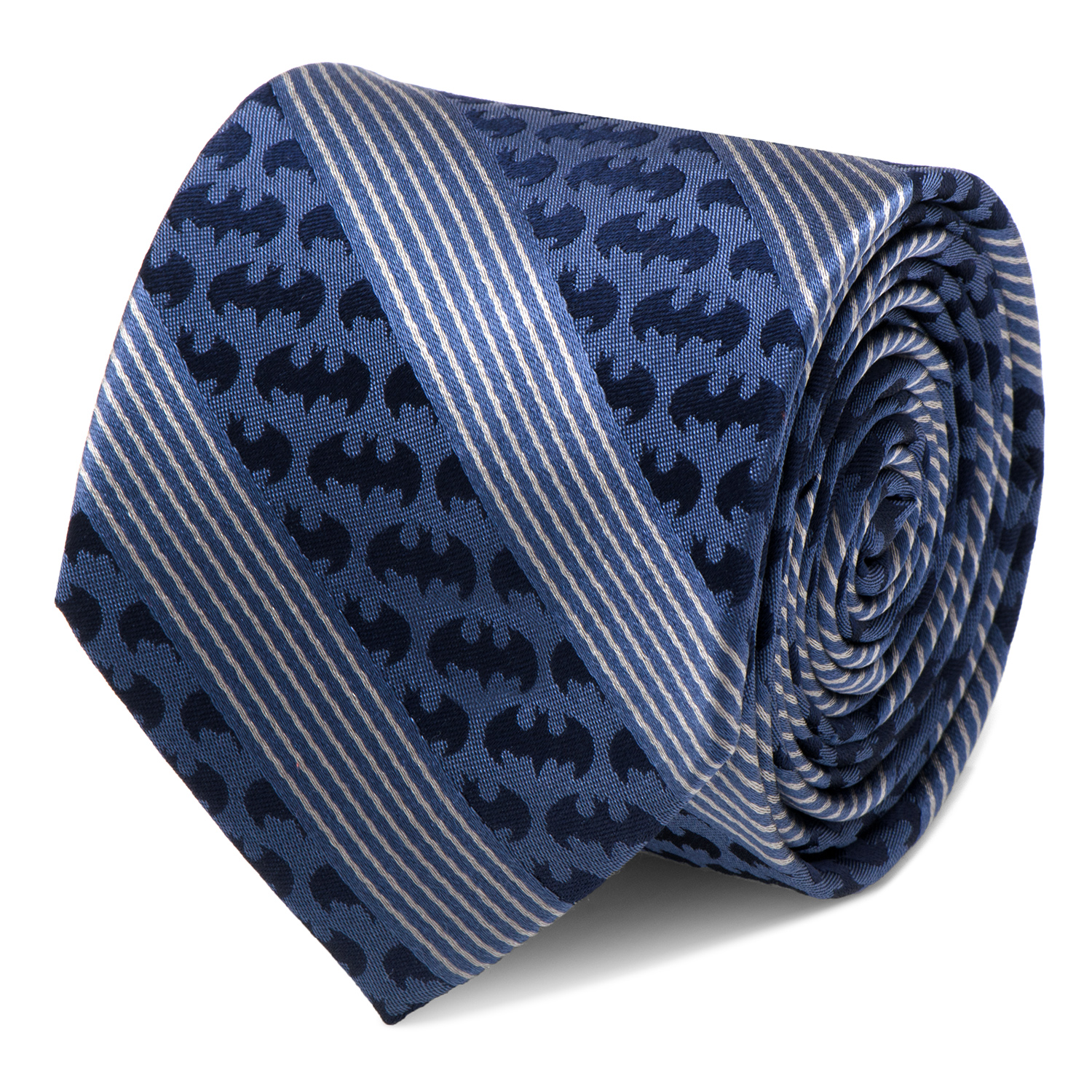 CUFFLINKS INC Mens Batman Pinstripe Navy Tie (Navy) - Modern Jewelry Accessory