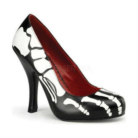 Skeleton Shoes Women's Adult Halloween Accessory - Halloween 110 Shoes