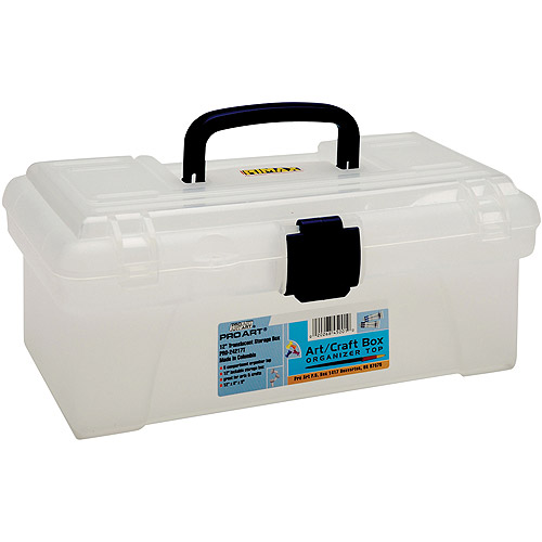Pro Art Storage Box with Organizer Top, Translucent